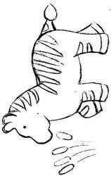 plansa de colorat animale zebre de colorat p06
