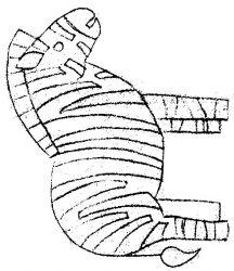 plansa de colorat animale zebre de colorat p08
