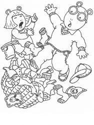 plansa de colorat arthur si prietenii sai de colorat p12