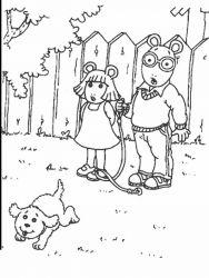 plansa de colorat arthur si prietenii sai de colorat p21