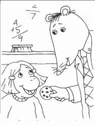 plansa de colorat arthur si prietenii sai de colorat p27