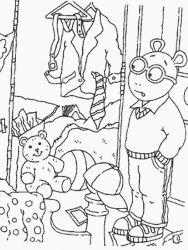 plansa de colorat arthur si prietenii sai de colorat p28