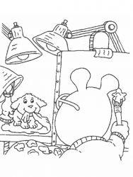 plansa de colorat arthur si prietenii sai de colorat p29