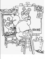 plansa de colorat arthur si prietenii sai de colorat p38
