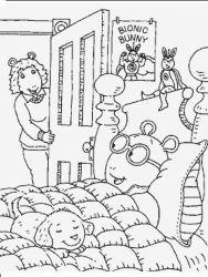 plansa de colorat arthur si prietenii sai de colorat p40