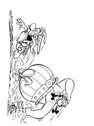 plansa de colorat asterix si obelix de colorat p18