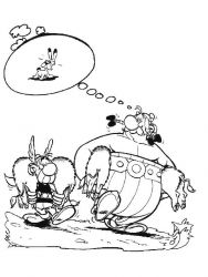 plansa de colorat asterix si obelix de colorat p21