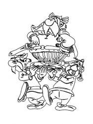 plansa de colorat asterix si obelix de colorat p24