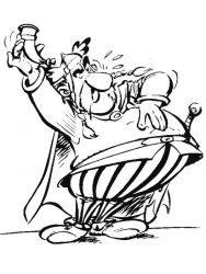 plansa de colorat asterix si obelix de colorat p29