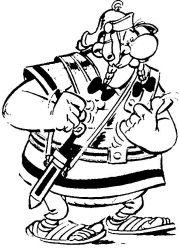 plansa de colorat asterix si obelix de colorat p30