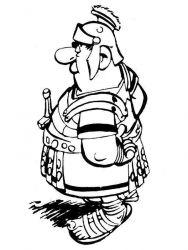 plansa de colorat asterix si obelix de colorat p34