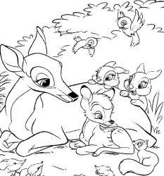 plansa de colorat bambi de colorat p03