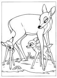 plansa de colorat bambi de colorat p04