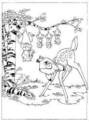plansa de colorat bambi de colorat p07