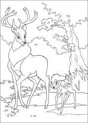 plansa de colorat bambi de colorat p19