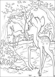 plansa de colorat bambi de colorat p23