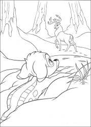 plansa de colorat bambi de colorat p32