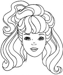 plansa de colorat barbie de colorat p02