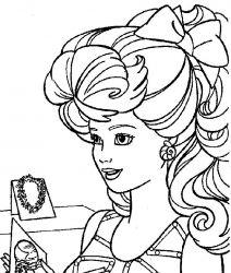 plansa de colorat barbie de colorat p06