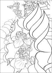 plansa de colorat barbie thumbelina de colorat p01