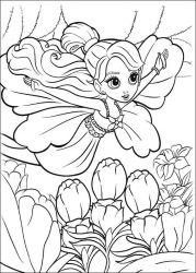 plansa de colorat barbie thumbelina de colorat p03