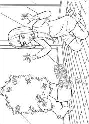 plansa de colorat barbie thumbelina de colorat p17