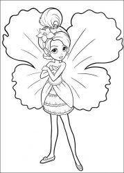 plansa de colorat barbie thumbelina de colorat p21