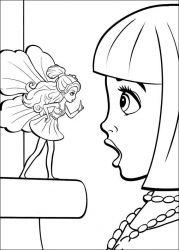 plansa de colorat barbie thumbelina de colorat p24