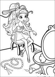 plansa de colorat barbie thumbelina de colorat p27