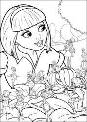 plansa de colorat barbie thumbelina de colorat p30