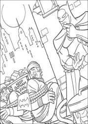 plansa de colorat batman de colorat p03