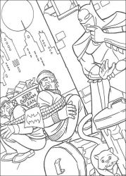 plansa de colorat batman de colorat p33