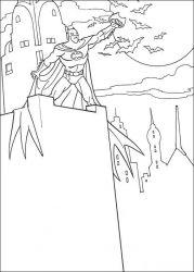 plansa de colorat batman de colorat p39