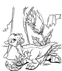 plansa de colorat bebe dinozauri de colorat p03