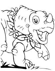 plansa de colorat bebe dinozauri de colorat p04