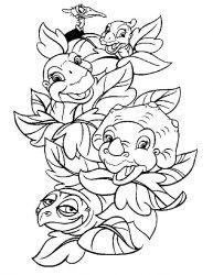 plansa de colorat bebe dinozauri de colorat p06