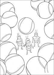 plansa de colorat bee movie de colorat p07