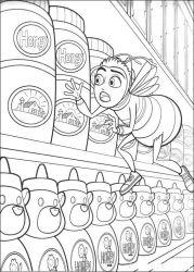 plansa de colorat bee movie de colorat p16