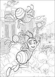 plansa de colorat bee movie de colorat p34