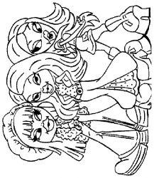 plansa de colorat bratz de colorat p09