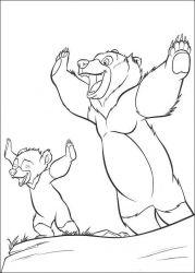 plansa de colorat brother bear de colorat p03