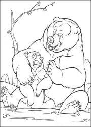 plansa de colorat brother bear de colorat p05