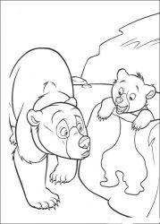 plansa de colorat brother bear de colorat p07