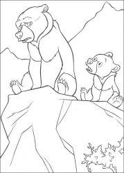 plansa de colorat brother bear de colorat p09