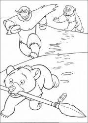 plansa de colorat brother bear de colorat p10