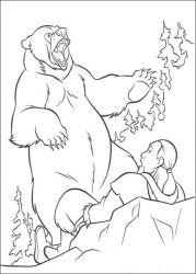 plansa de colorat brother bear de colorat p12