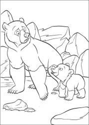 plansa de colorat brother bear de colorat p13