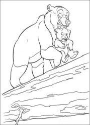 plansa de colorat brother bear de colorat p15