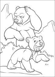 plansa de colorat brother bear de colorat p17
