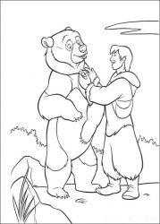 plansa de colorat brother bear de colorat p29